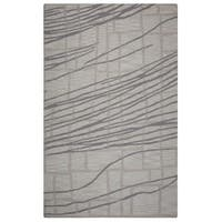 Rizzy Home Loureli Collection Ivory/ Grey Striped Area Rug - 8' x 10'
