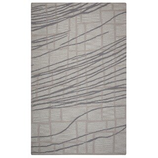 Rizzy Home Loureli Collection Ivory/ Grey Striped Area Rug (9' x 12')