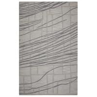 Rizzy Home Loureli Collection Ivory/ Grey Striped Area Rug - 9' x 12'