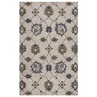 Rizzy Home Valintino Collection Natural/ Brown Floral Area Rug - 8' x 10'
