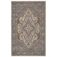 Rizzy Home Valintino Collection Multicolored Bordered Area Rug (8' x 10')