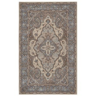 Rizzy Home Valintino Collection Multicolored Bordered Area Rug (9' x 12')