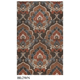 Rizzy Home Leone Collection Damask Area Rug (5' x 8')