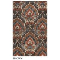 Napoli Collection Damask Area Rug (5' x 8') - 5' x 8'