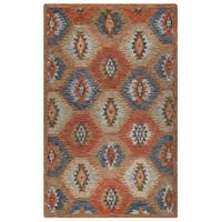 Rizzy Home Leone Collection Tribal Area Rug (5' x 8') - 5' x 8'