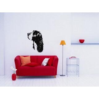 Springer Spaniel Dog Profile Wall Art Sticker Decal