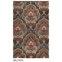 Napoli Collection Damask Area Rug (9' x 12') - 9' x 12'