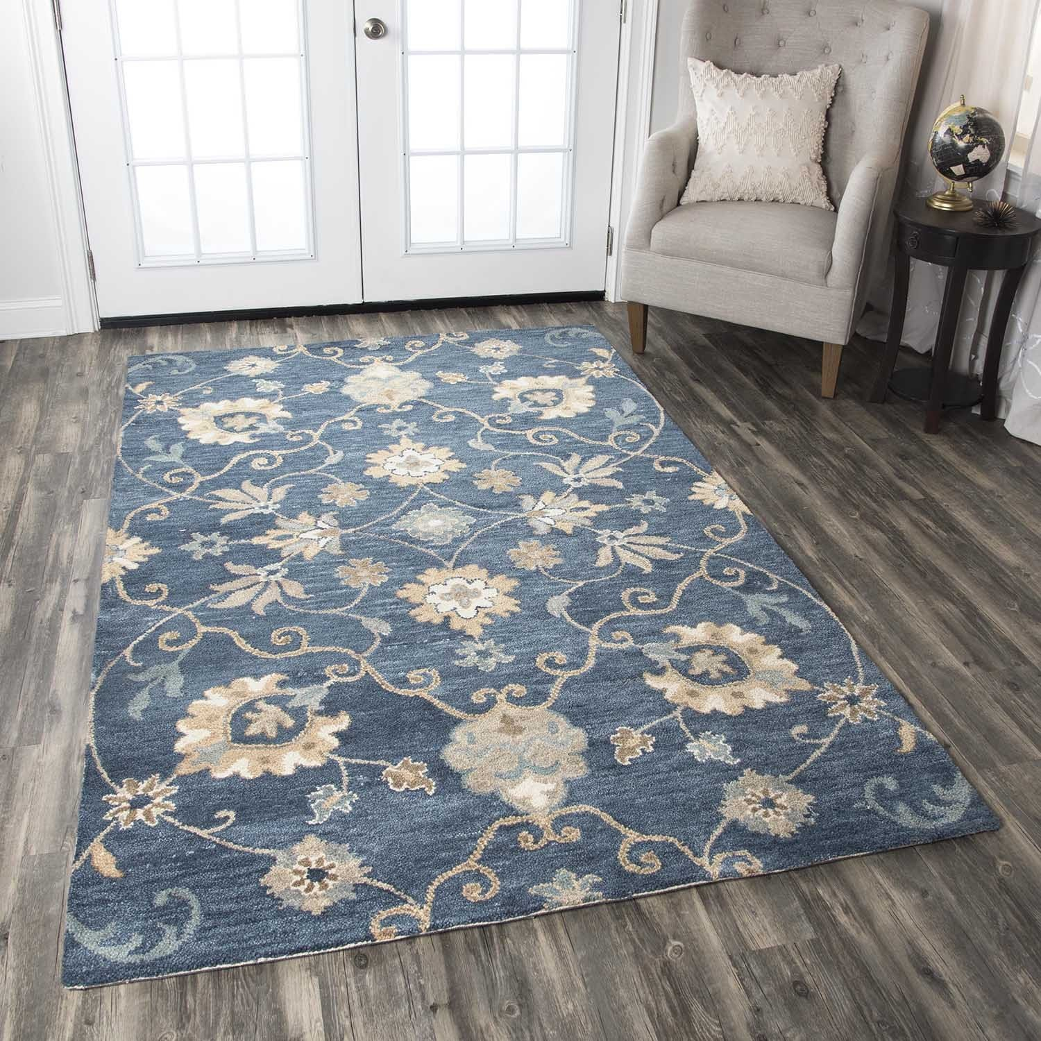 Rizzy Home Leone Collection Fl Area Rug 9 X 12