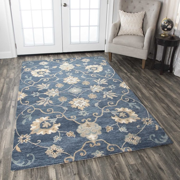 Rizzy Home Leone Collection Floral Area Rug (9' x 12')