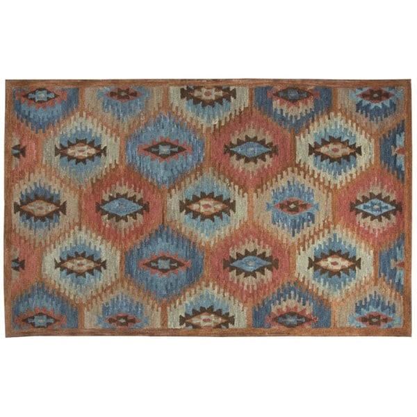Rizzy Home Leone Collection Tribal Area Rug (9' x 12') - 9' x 12'