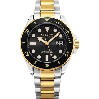 SO&CO New York Men's Yacht Club Quartz Two-tone Bracelet Watch