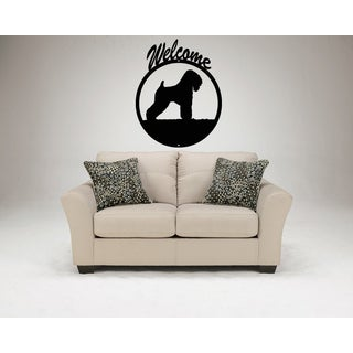 Airedale Terrier Dog Pet Welcome Wall Art Sticker Decal