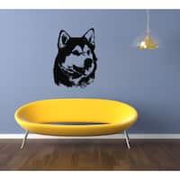 Alaskan Malamute Dog Portrait Wall Art Sticker Decal