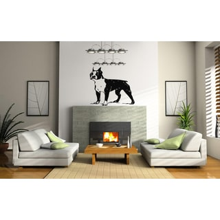Boston Terrier Dog looker Wall Art Sticker Decal