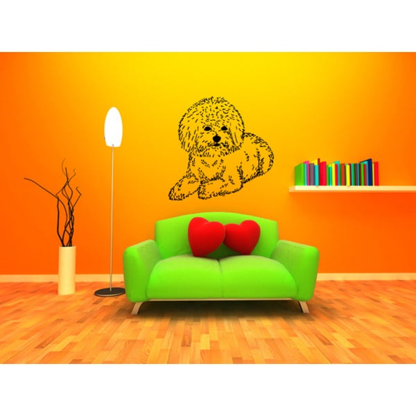 Bichon Frise Dog Puppy Wall Art Sticker Decal