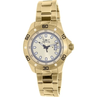Invicta Men's Goldtone Stainless Steel Pro Diver 19265 Quartz Watch