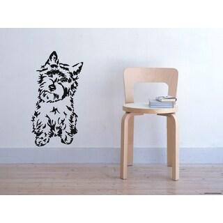 Cairn Terrier Dog Shaggy Wall Art Sticker Decal