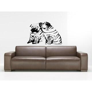 Chinese SharPei Dog Love Wall Art Sticker Decal