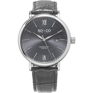 SO&CO New York Men's Madison Quartz Grey Leather Strap Watch|https://ak1.ostkcdn.com/images/products/11336356/P18311372.jpg?_ostk_perf_=percv&impolicy=medium