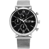 SO&CO New York Men's Monticello Quartz Stainless Steel Mesh Bracelet Watch