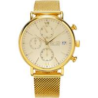 SO&CO New York Men's Monticello Quartz Chronograph Watch with Goldtone Mesh Bracelet