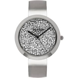 SO&CO New York Women's SoHo Quartz Stainless Steel Bangle Crystal Watch|https://ak1.ostkcdn.com/images/products/11336377/P18311393.jpg?impolicy=medium