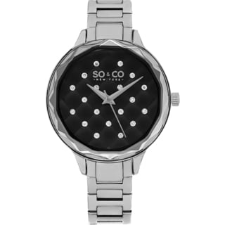 SO&CO New York Women's Madison Quartz Stainless Steel Bracelet Crystal Watch
