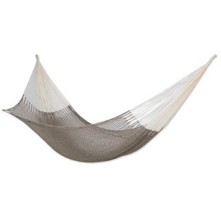 Handmade Cotton 'Maya Mist' Double Hammock (Mexico)