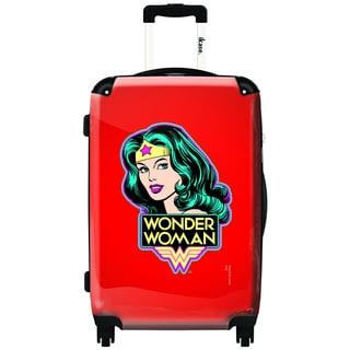iKase Wonder Woman Red Vintage 24-inch Fashion Hardside Spinner Upright Suitcase