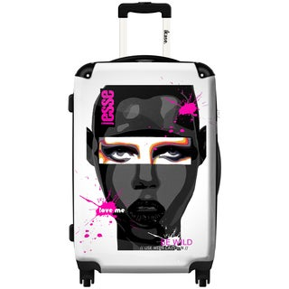 iKase African Queen 'Be Wild' 24-inch Fashion Hardside Spinner Upright Suitcase