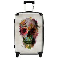 iKase Mythical Flowers 24-inch .Hardside Spinner Luggage