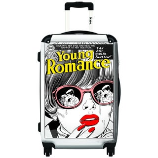 iKase Comic 'Young Romance' 24-inch Fashion Hardside Spinner Upright Suitcase