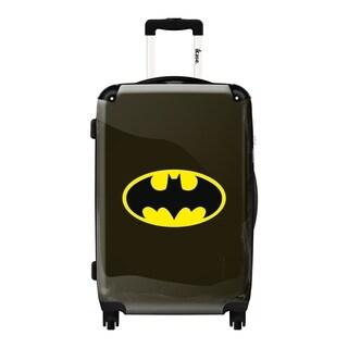 iKase Batman Black Logo 24-inch Fashion Hardside Spinner Upright Suitcase