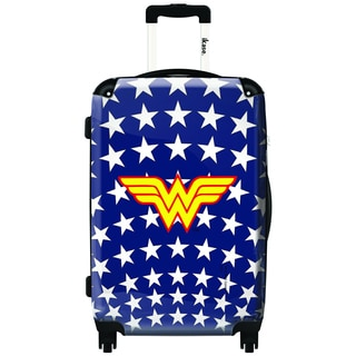 iKase Wonder Woman Stars 24-inch Fashion Hardside Spinner Upright Suitcase