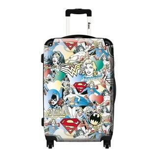 iKase Girl 'Superheroes' 24-inch Fashion Hardside Spinner Upright Suitcase