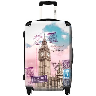 iKase Big Ben Post Card 24-inch .Hardside Spinner Luggage