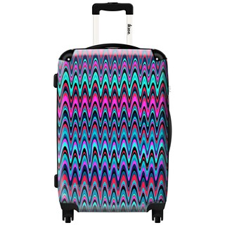 iKase Zig-zag 24-inch Fashion Hardside Spinner Upright Suitcase