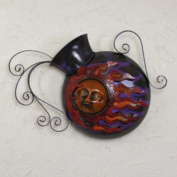 Handmade Iron 'Jar of Sunbeams' Wall Lamp (Mexico)