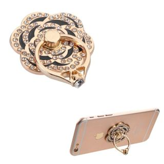INSTEN Flower Diamond Adhesive Bunker Ring Stand Holder for iPhone/ Samsung Galaxy/ iPad/ Tablet and Cell Phones