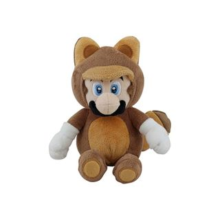 Nintendo 9-inch Super Mario Tanooki Mario Cute Soft Plush Toy