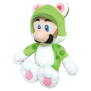 Nintendo 14-inch Super Mario Cat Luigi Cute Soft Plush Toy