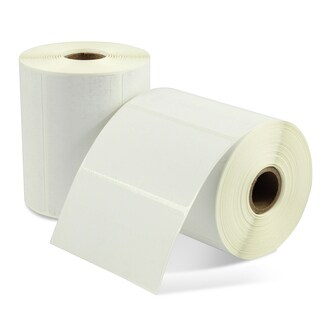 Insten White 4-inch x 2-inch Direct Thermal Label (Box of 12 Rolls)