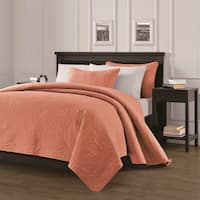 EverRouge Austin 3-piece King Size Quilt Set in Salmon (As Is Item)