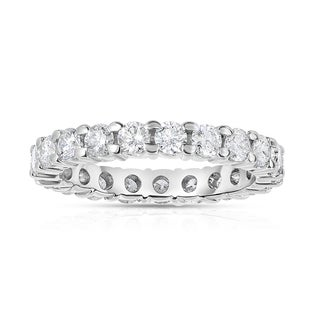 Eloquence 14k White Gold 2ct TDW Prong-set Diamond Eternity Band