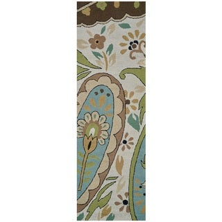 Rizzy Home Country Collection Multicolored Floral Runner Rug (2'6 x 8')