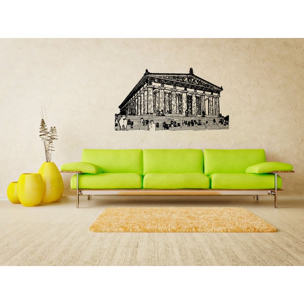 Afini Skyline City People Staircase Wall Art Sticker Decal