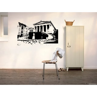 Afini Skyline City Sights History Old Area Wall Art Sticker Decal