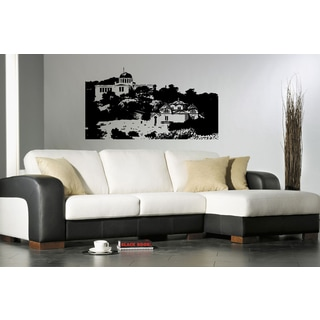Afini Skyline City Sights History Old Picture Wall Art Sticker Decal