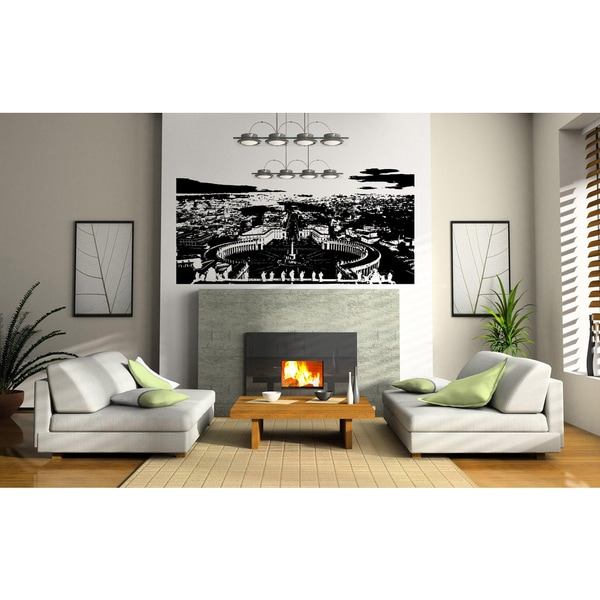 Rome Skyline City Gorgeous view Panorama Wall Art Sticker Decal