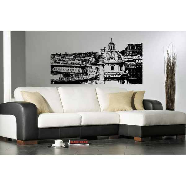 Rome skyline city church wall art sticker decal free for Wall stickers roma